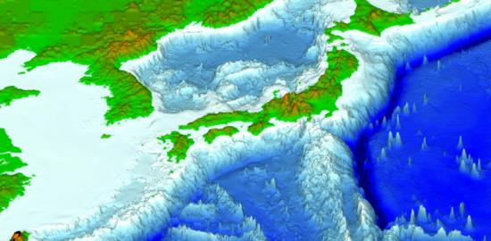 日本海底図